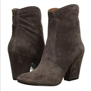 Nine West Dashiell Dark Gray Suede Ankle Booties